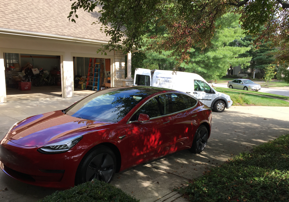 Tesla Orange Home Charging Station